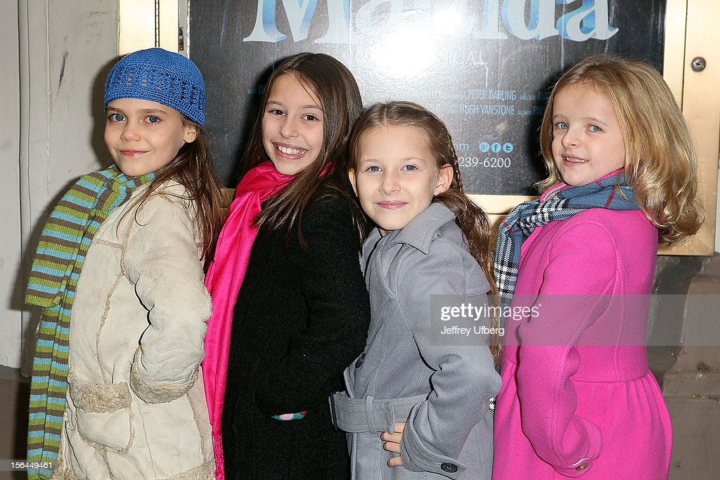 Actors Oona Laurence Bailey Ryon Sophia Gennusa And Milly Shapiro Attend The Matilda