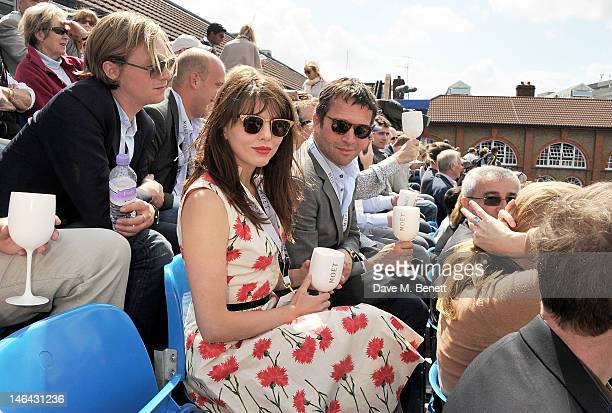 Actors Ophelia Lovibond and James Purefoy attend the Moet Chandon suite at The Queen's Club Tennis Championships on June 16 2012 in London England
