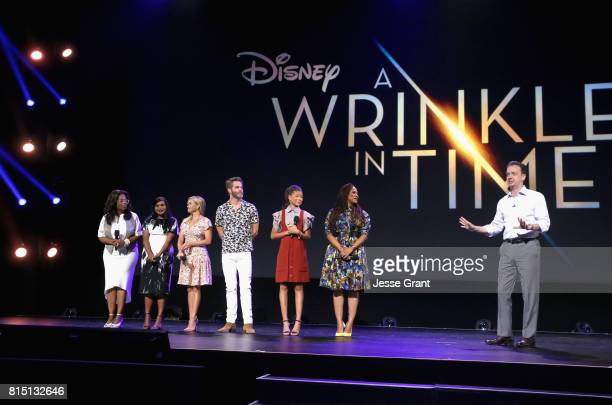 Actors Oprah Winfrey Mindy Kaling Reese Witherspoon Chris Pine Storm Reid of A WRINKLE IN TIME director Ava DuVernay of A WRINKLE IN TIME and...