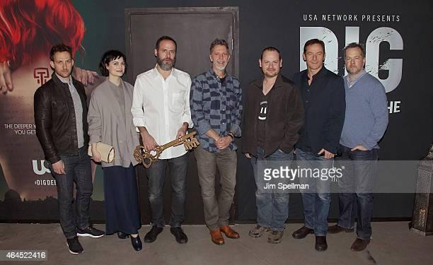 Actors Ori Pfeffer Alison Sudol Escape the Rooms creator Victor Blake executive producer/creators Tim Kring Gideon Raff actors Jason Isaacs and David...