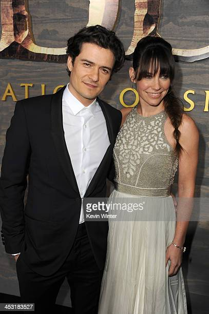 Actors Orlando Bloom and Evangeline Lilly attend the premiere of Warner Bros' The Hobbit The Desolation of Smaug at TCL Chinese Theatre on December 2...