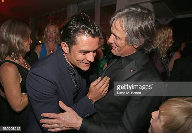 Actors Orlando Bloom and Viggo Mortensen attend Sierra Affinity's Captain Fantastic Cocktail Party at Nikki Beach Carlton Beach Club on May 17 2016...
