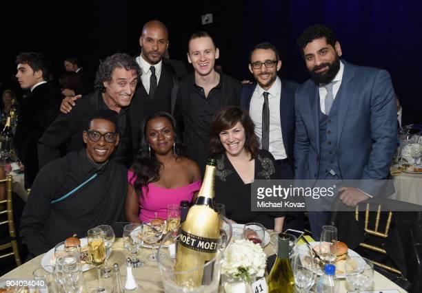 Actors Orlando Bloom Ian McShane Ricky Whittle Yetide Badaki Bruce Langley executtive producer Stefanie Berk actors Omid Abtahi and Mousa Kraish...
