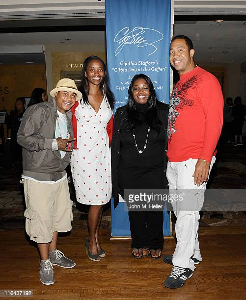 Actors Orlando Brown Erika Alexander pholanthropist Cynthia Stafford and actor John Marshall Jones attend the 1st Annual Cynthia Stafford's Gifted...