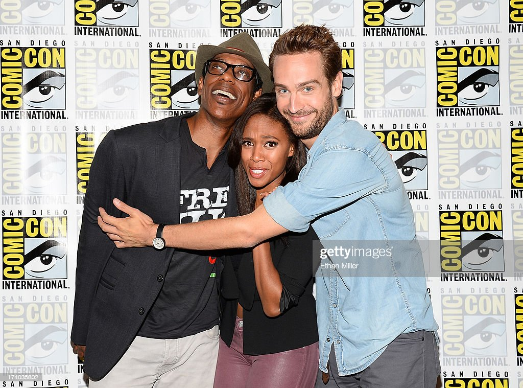 Actors Orlando Jones, Nicole Beharie and Tom Mison attend the 'Sleepy Hollow' press line during Comic-Con International 2013 at the Hilton San Diego Bayfront Hotel on July 19, 2013 in San Diego, California.