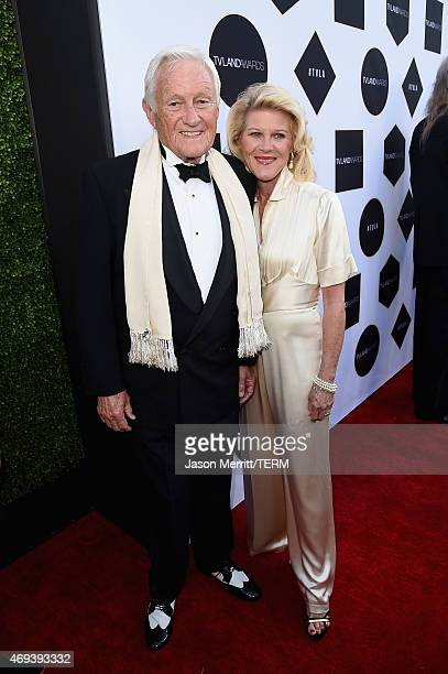 Actors Orson Bean and Alley Mills attend the 2015 TV Land Awards at Saban Theatre on April 11 2015 in Beverly Hills California