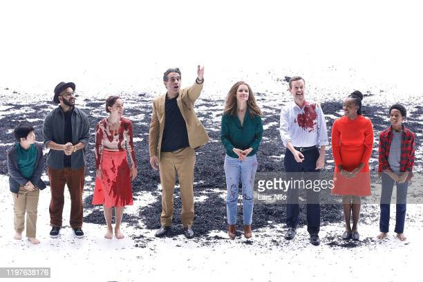 Actors Orson Hong, Victor Almanzar, Madeline Weinstein, Bobby Cannavale, Rose Byrne, Dylan Baker, Jordan Boatman and Jolly Swag on stage during the...