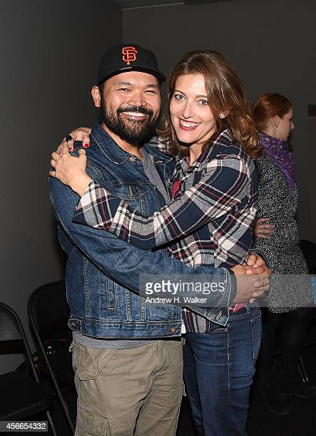 Actors Orville Mendoza and Sandy Rustin attend the Apple Store Soho Presents Meet the Cast 'Found' at Apple Store Soho on October 3 2014 in New York...