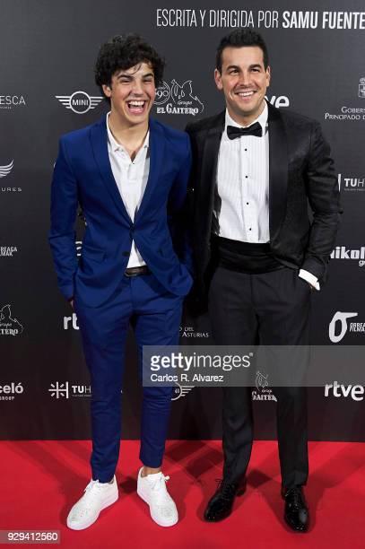 Actors Oscar Casas and Mario Casas attend 'Bajo La Piel del Lobo' premiere at the Callao cinema on March 8 2018 in Madrid Spain