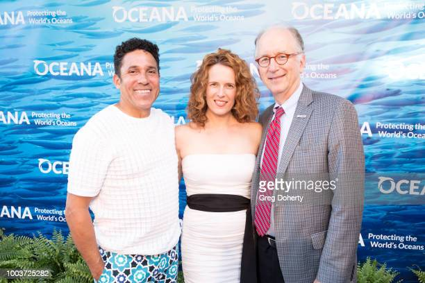 Actors Oscar Nunez, Ursula Whitaker and Oceana CEO Andy Sharpless attend the 11th Annual SeaChange Summer Party on July 21, 2018 in Laguna Beach,...