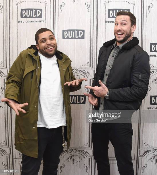 Actors O'Shea Jackson Jr and Pablo Schreiber visit Build Series to discuss the film Den of Thieves at Build Studio on January 8 2018 in New York City