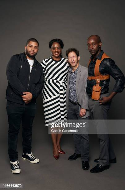 Actors O'Shea Jackson Jr., Karan Kendrick, Tim Blake Nelson, and Rob Morgan from the film 'Just Mercy' pose for a portrait during the 2019 Toronto...