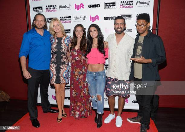 Actors Owen Harn Beth Littleford Caitlin McHugh and Brittany Furlan director Sanjeev Sirpal and actor Alphonso McAuley attend the premiere of...