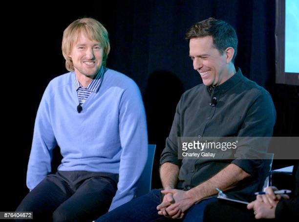 Actors Owen Wilson and Ed Helms speak onstage during Vulture Festival LA presented by ATT at Hollywood Roosevelt Hotel on November 19 2017 in...