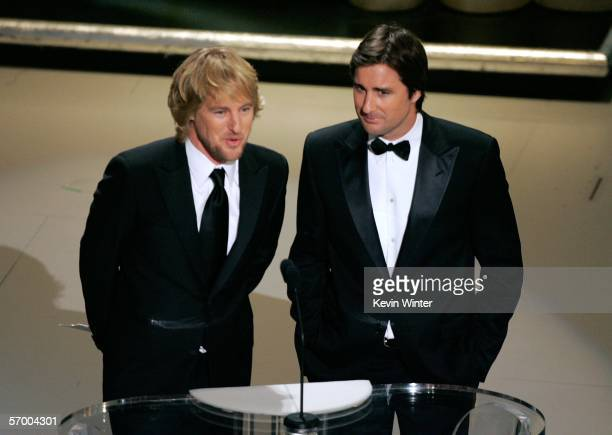 Actors Owen Wilson and Luke Wilson present the Best Live Action Short film award on stage during the 78th Annual Academy Awards at the Kodak Theatre...