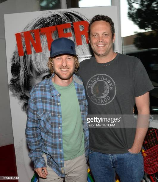 """Actors Owen Wilson and Vince Vaughn are seen at """"The Internship"""" Googler Premiere on May 30, 2013 in San Francisco, California."""