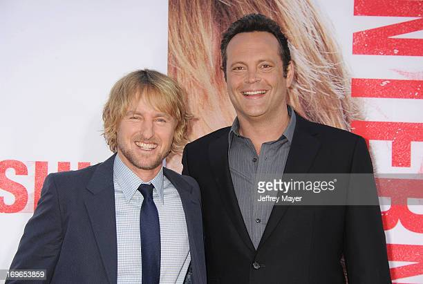 Actors Owen Wilson and Vince Vaughn arrive at 'The Internship' - Los Angeles Premiere at Regency Village Theatre on May 29, 2013 in Westwood,...