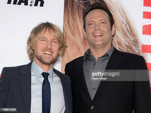 "Actors Owen Wilson and Vince Vaughn arrive at the premiere of Twentieth Century Fox's ""The Internship"" at Regency Village Theatre on May 29, 2013 in..."