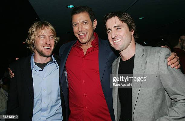 "Actors Owen Wilson, Jeff Goldblum and Luke Wilson attend ""The Life Aquatic With Steve Zissou"" premiere after party at Roseland Ballroom December 9,..."