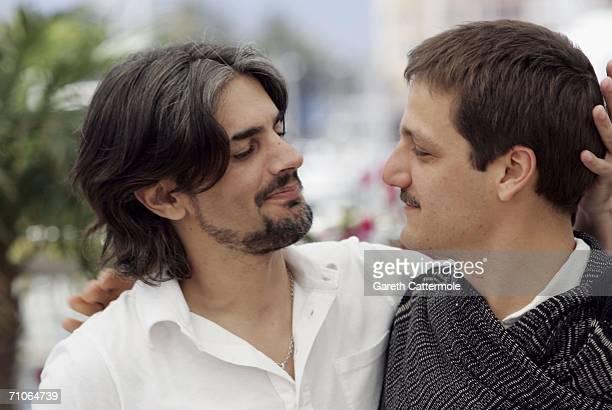 Actors Pablo Echarri and Rodrigo De la Serna attend a photocall promoting the film 'Cronica De Una Fuga' at the Palais des Festivals during the 59th...