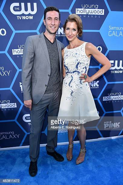 Actors Pablo Schreiber and Alysia Reiner attend the 2014 Young Hollywood Awards brought to you by Samsung Galaxy at The Wiltern on July 27 2014 in...