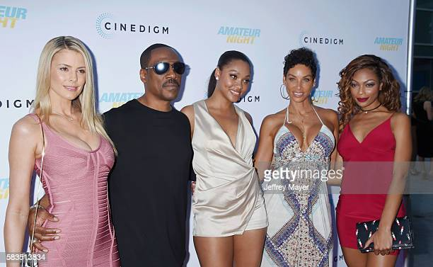 Actors Paige Butcher Eddie Murphy Bria L Murphy TV personality Nicole Mitchell Murphy and Shayne Audra Murphy attend the premiere of Cinedigm's...