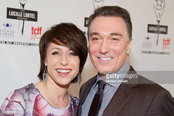 Actors Paige Davis and Patrick Page attend the 27th annual Lucille Lortel Awards at the NYU Skirball Center on May 6 2012 in New York City