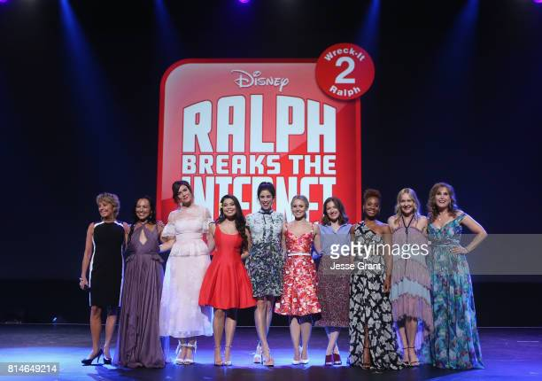 Actors Paige O'Hara Irene Bedard Mandy Moore Auli'i Cravalho Sarah Silverman Kristen Bell Kelly Macdonald Anika Noni Rose Linda Larkin and Jodi...