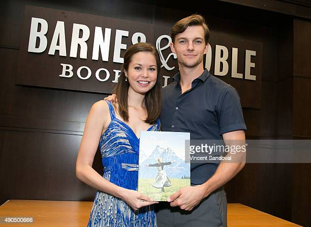 """Actors Paige Silvester and Dan Tracy attend Barnes & Noble hosts """"The Sound Of Music"""" event with cast members Paige Silvester and Dan Tracy at Barnes..."""