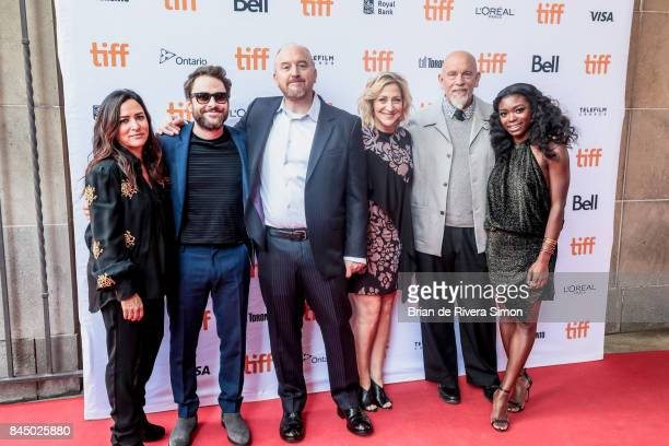 Actors Pamela Adlon Charlie Day Louis CK Edie Falco John Malcovich and Ebonee Noel attend the I Love You Daddy premiere during the 2017 Toronto...