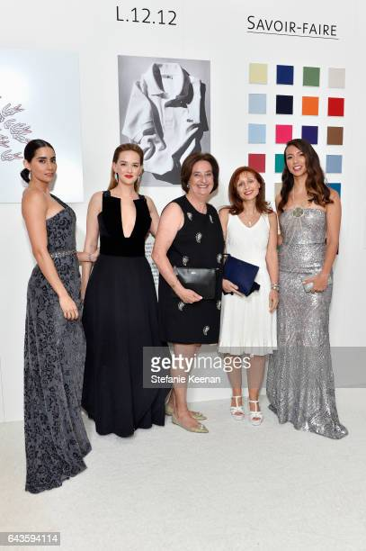 Actors Paola Nunez Jess Weixler Director LACOSTE SA Beryl Lacoste President and CEO LACOSTE North America Joelle Grunberg and actor Elizabeth Frances...