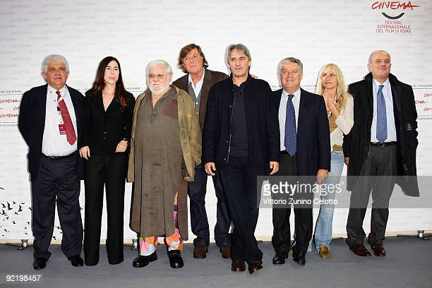 Actors Paolo Villaggio Adriano Panatta director Mimmo Calopresti and guests attend the 'La Maglietta Rossa' Photocall during Day 8 of the 4th...