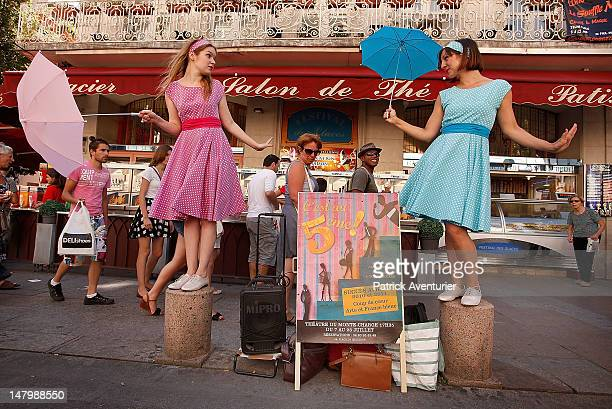 Actors parade in steet of Avignon during the opening ceremony of the 66th Festival D'Avignon on July 6, 2012 in Avignon, France. Founded in 1947 by...
