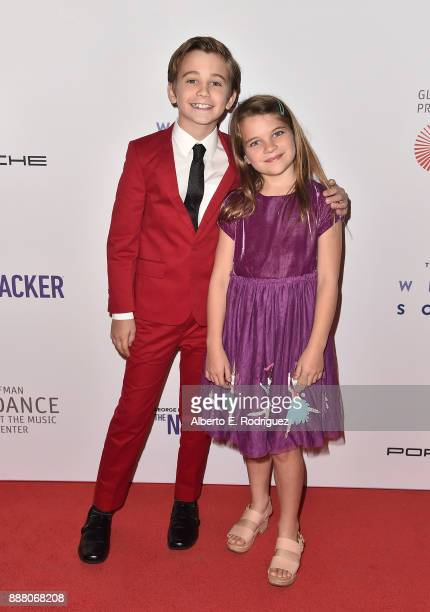 Actors Parker Bates and Raegan Revord attends the premiere of The New George Balanchine's The Nutcracker at The Dorothy Chandler Pavillion at the...