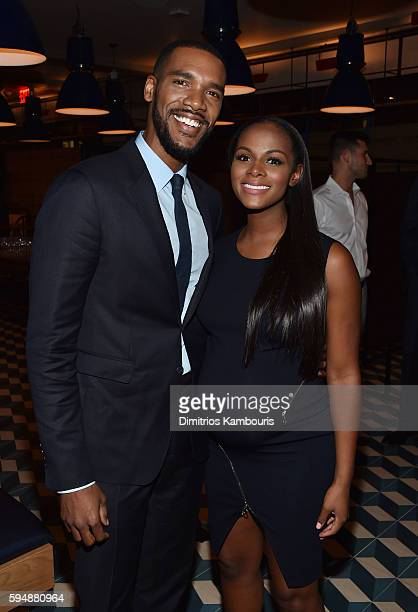"""Actors Parker Sawyers and Tika Sumpter attend the after party for the screening of """"Southside With You"""" hosted by Miramax, Roadside Attractions & IM..."""