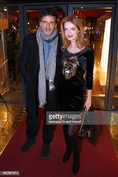 Actors Pascal Elbe and Cyrielle Clair attend the Fouquet's Paris Restaurant presents its Menu 'Twisted' by the Chef Pierre Gagnaire Held at Le...