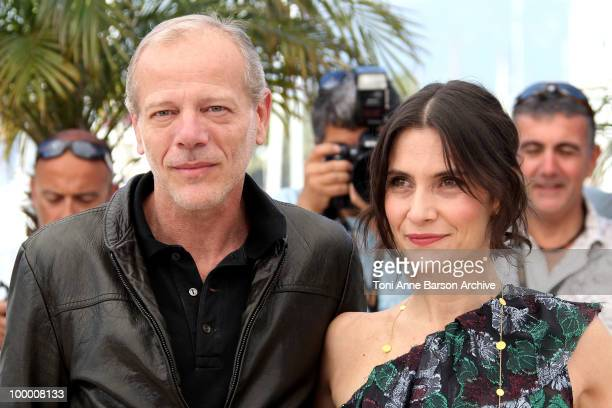 Actors Pascal Greggory and Geraldine Pailhas attend the 'Rebecca H ' Photo Call held at the Palais des Festivals during the 63rd Annual International...