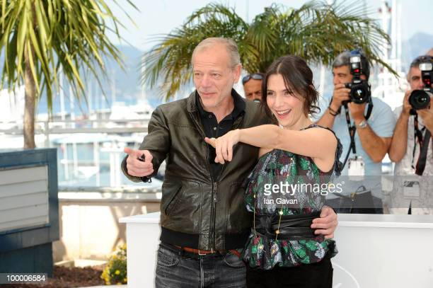 Actors Pascal Greggory and Geraldine Pailhas attends the 'Rebecca H ' Photocall at the Palais des Festivals during the 63rd Annual Cannes Film...