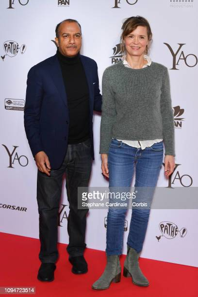 Actors Pascal Legitimus and Caroline Proust attend 'Yao' Paris Premiere at Le Grand Rex on January 15 2019 in Paris France