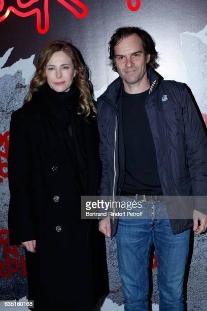 Actors Pascale Arbillot and Sebastien Thiery attend the Rock'N Roll Premiere at Cinema Pathe Beaugrenelle on February 13 2017 in Paris France