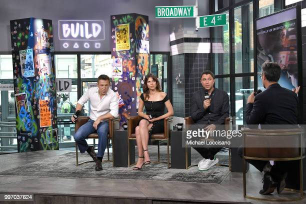 Actors Pasha D Lychnikoff and Ana Ularu and director Matthew Ross visit Build to discuss the film 'Siberia' at Build Studio on July 11 2018 in New...