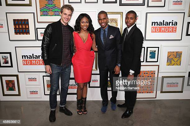 Actors Pasha Pellosie Tashiana Washington Eric West and Ty Hickson attend the Malaria No More 2014 International Honors Gala Benefit on November 13...