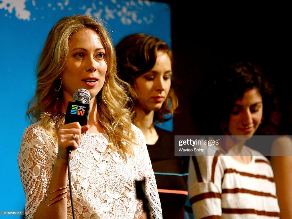 Actors Paten Hughes, Helen Rogers, and Layla Khoshnoudi speak onstage during the premiere of 'Long Nights Short Mornings' during the 2016 SXSW Music, Film + Interactive Festival at Alamo Lamar A on March 12, 2016 in Austin, Texas.