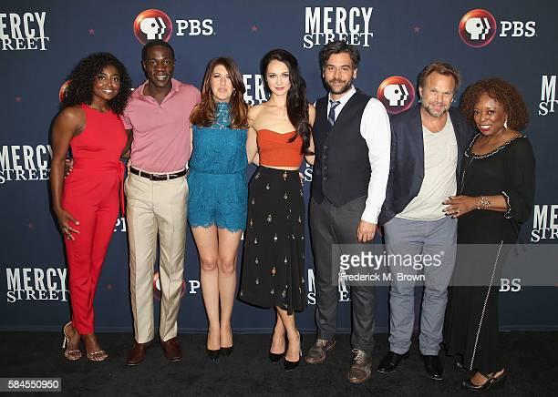 Actors Patina Miller McKinley Belcher III Tara Summers Hannah James Josh Radnor Norbert Leo Butz and L Scott Caldwell attend the 'Mercy Street Season...