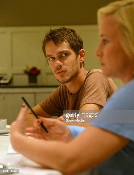"""Actors Patricia Arquette and Ellar Coltrane worked 12 years together in the making of the movie """"Boyhood"""". They are photographed at the Eliot Hotel..."""