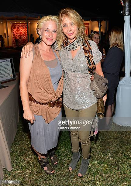 Actors Patricia Arquette, and Rosanna Arquette attend the GiveLove 2nd Annual Art Auction And Fundraiser For Haiti With Patricia Arquette & Rosetta...