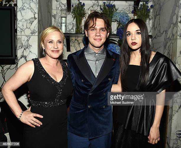 Actors Patricia Arquette Ellar Coltrane and Lorelei Linklater attend VANITY FAIR and Chrysler Celebration of Richard Linklater and the cast of...