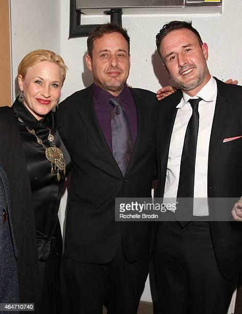Actors Patricia Arquette Richmond Arquette and David Arquette attend NYLON Magazine's Spring Fashion Issue Celebration hosted by Rita Ora at Blind...