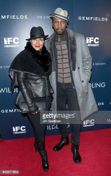 Actors Patricia Blanchet and Leon Robinson attend the screening of IFC Midnight's Wildling hosted by The Cinema Society and Gemfields at iPic Theater...