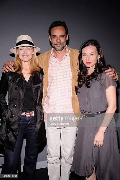 Actors Patricia Clarkson and Alexander Siddig and director Ruba Nadda of the film 'Cairo Time' attend Meet The Filmmaker at the Apple Store Soho on...